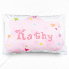 Baby All Hearts Personalised Name Pillowcase