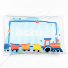 Baby Abroad Train Personalised Name Pillowcase