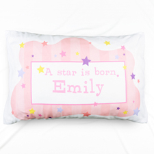 A New Star Girl Personalised Name Pillowcase