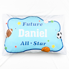 Future All Star Personalised Name Pillowcase