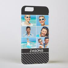 Black Stripe Personalised Photo iPhone 6 Case