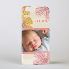 Pink Floral Personalised Photo iPhone 6 Case