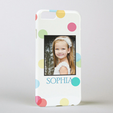 Colourful Dots Personalised Photo iPhone 6 Case