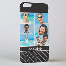 Black Stripe Six Collage Photo Personalised iPhone 6+ Phone Case