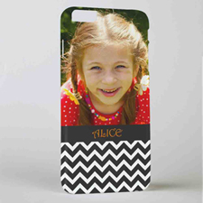 Black Chevron Personalised Photo iPhone 6+ Mobile Case