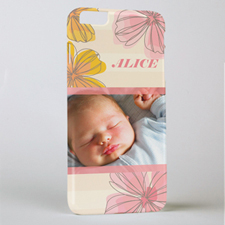 Pink Floral Personalised Photo iPhone 6+ Mobile Case