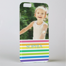 Rainbow Stripe Personalised Photo iPhone 6+ Phone Case