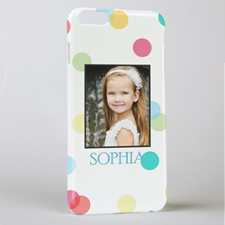 Colourful Dots Personalised Photo iPhone 6 + Case