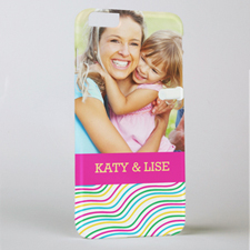 Happy Stripes Personalised Photo iPhone 6+ Case