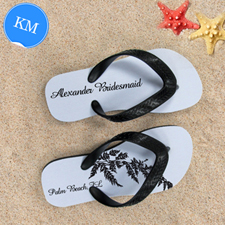 Fern Personalised Flip Flops, Kid's Medium