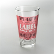 Custom Full Colour Imprint Drinking Glass