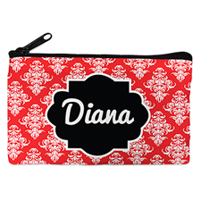 Red Vintage Personalised Small Cosmetic Bag 4