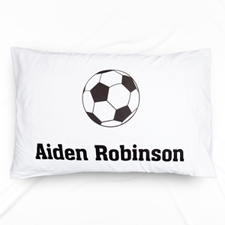 Soccer Personalised Name Pillowcase