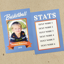 Basketball Personalised Trading Cards Blue  Set Of 12