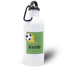 Soccer Personalised Kids Water Bottle