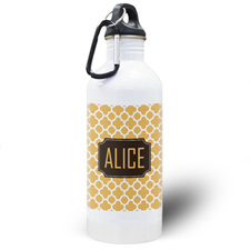 Orange Clover Personalised Water Bottle
