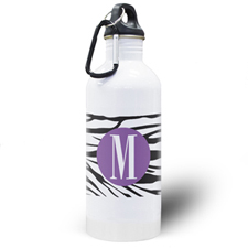 Zebra Print Personalised Water Bottle