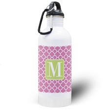 Fuchsia Clover Personalised Water Bottle