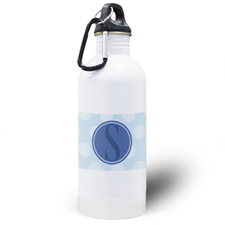 Blue Dots Personalised Water Bottle
