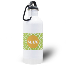 Lime Clover Personalised Water Bottle