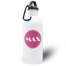 Personalised Name Pink Water Bottle