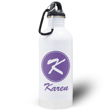 Personalised Name Purple Water Bottle