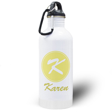 Personalised Name Yellow Water Bottle