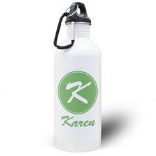 Personalised Name Green Water Bottle