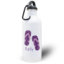 Flip Flops Personalised Water Bottle