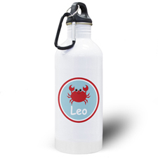 Crab Personalised Kids Water Bottle