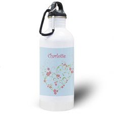 Floral Bridesmaid Personalised Water Bottle