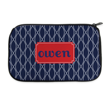Navy Clover Personalised Neoprene Cosmetic Bag