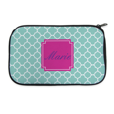 Aqua Clover Personalised Neoprene Cosmetic Bag