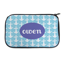 Aqua Anchor Personalised Neoprene Cosmetic Bag