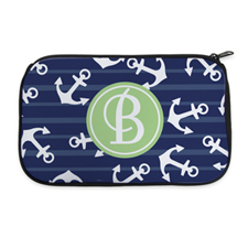 Navy Anchor Personalised Neoprene Cosmetic Bag