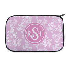Pink Vintage Personalised Neoprene Cosmetic Bag