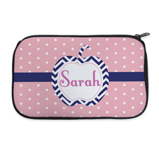 Polka Dot And Apple Personalised Neoprene Cosmetic Bag