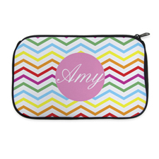 Rainbow Chevron Personalised Neoprene Cosmetic Bag
