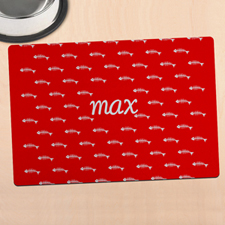 Red Kitty Personalised Meal Mat