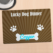 Lucky Dog Dinner Personalised Meal Mat