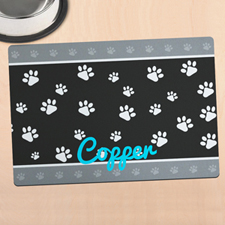 Paw Border Personalised Meal Mat