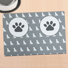 Personalised Dog Bowl Mat