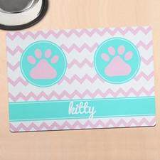 Chevron Personalised Pet Meal Mat