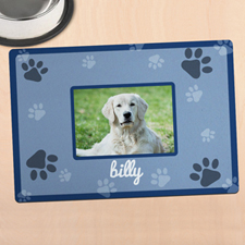 Blue Personalised Photo Meal Mat