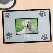 Black Personalised Photo Meal Mat
