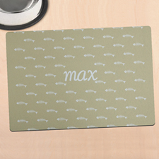 Beige Kitty Personalised Meal Mat