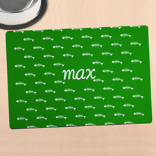 Green Kitty Personalised Meal Mat
