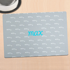 Grey Kitty Personalised Meal Mat