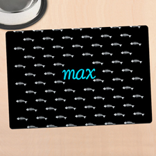 Black Kitty Personalised Meal Mat