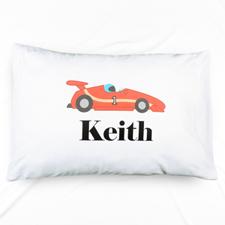 Race Car Personalised Name Pillowcase